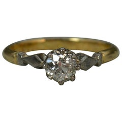 Victorian 0.5 Carat Diamond 18 Carat Gold Platinum Ring