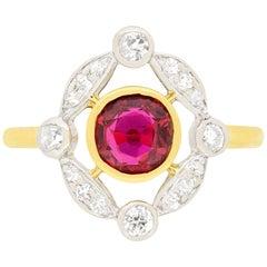Victorian 0.70 Carat Ruby and Diamond Ring, circa 1900s