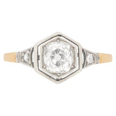 Victorian 0.78 Carat Diamond Solitaire Engagement Ring, circa 1880s