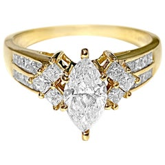 Victorian 0.80 Carat Diamond Engagement Ring in Yellow Gold