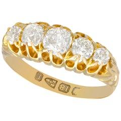 Victorian 1.36 Carat Diamond Gold Five-Stone Ring