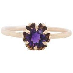 Victorian 14 Karat Rose Gold Amethyst Ring