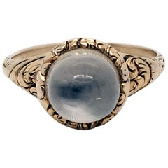 Victorian 14 Karat Yellow Gold and Cat Eye Moonstone Ring