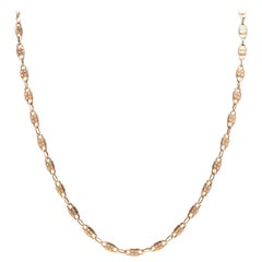 Victorian 14 Karat Yellow Gold Padlock Chain Necklace