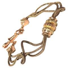 Victorian 15 Carat Gold Albertina Bracelet