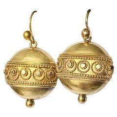 Victorian 15 Carat Gold Dangle Earrings