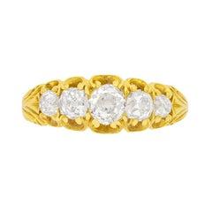 Victorian 1.50ct Diamond Five Stone Ring, c.1880s