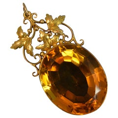 Victorian 15 Carat Gold and Citrine Pendant