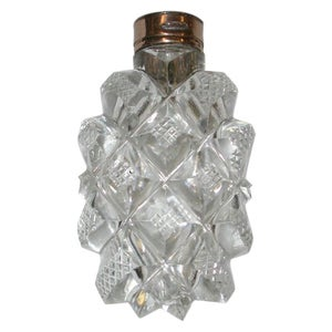 Victorian 15-Carat Gold Topped Cut Glass Scent Bottle, circa 1850