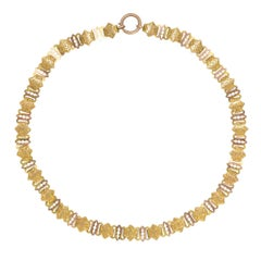 Victorian 15 Karat Gold Collar Necklace