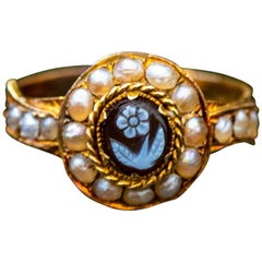 Victorian 18 Carat Gold Forget Not Ring