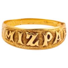 Victorian 18 Carat Gold Mizpah Ring
