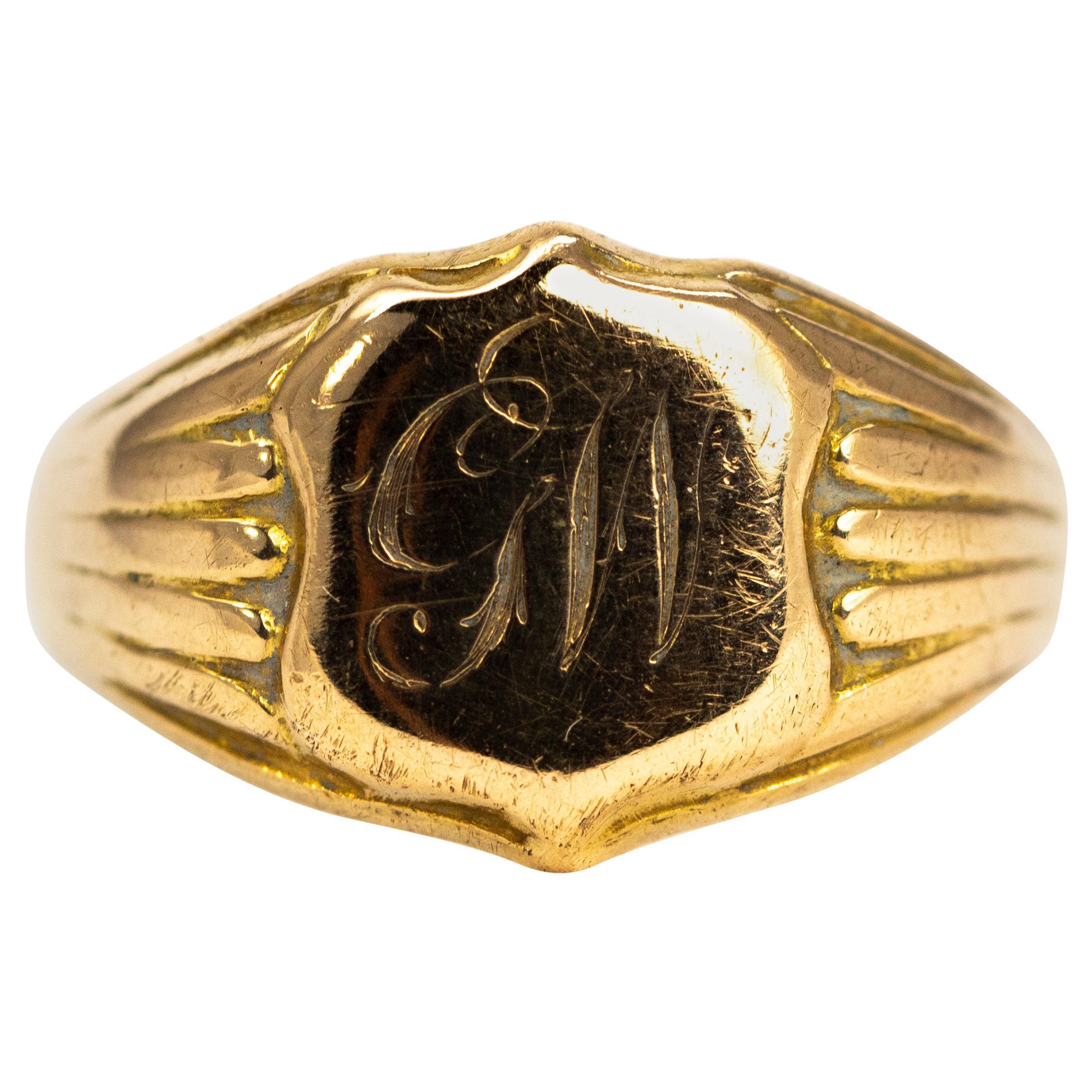 Victorian 18 Carat Gold Signet Ring