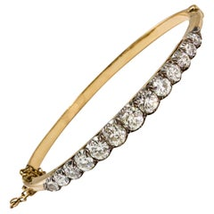 Victorian 18 Karat Gold Diamond Bangle, circa 1880