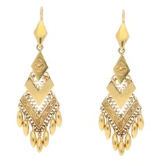 Victorian 18 Karat Gold Drop Earrings
