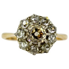 Victorian 18 Karat Gold Ladies Ring with Diamonds