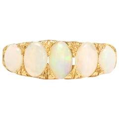 Victorian 18 Karat Gold Opal 5-Stone Ring