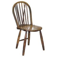 Victorian 1840 Hoop Back Windsor Chair High Wycombe Glenister for Restoration