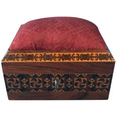 Victorian 1845 Tunbridge Ware ,Stickware and Mosaic Sewing Box