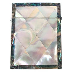 Victorian 1850 Mother of Pearl and Abalone Card Case in Superb Condition
