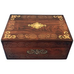 Victorian 1850 Rosewood Jewelry Box