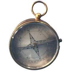 Victorian 1870 Pocket Compass and Barometer