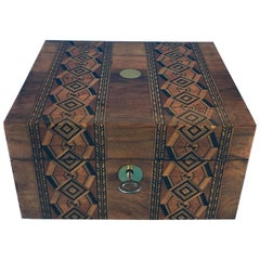Victorian 1890-1900 Inlaid Walnut Tunbridge Ware Box