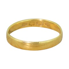 Victorian 1894 22 Karat Yellow Gold Wedding Band