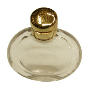 Victorian 18-Carat Topped Glass Scent Bottle, Dated circa 1880