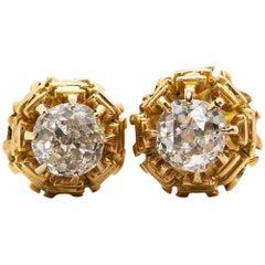 Victorian 18 Karat Gold Diamonds Earrings