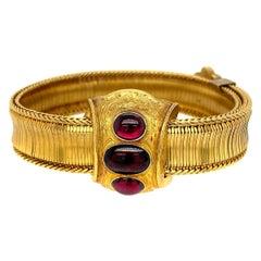 Victorian 18 Karat Yellow Gold Sliding Bracelet