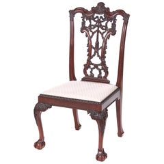 Victorian 19th Century Antique Carved Mahogany Desk Chair