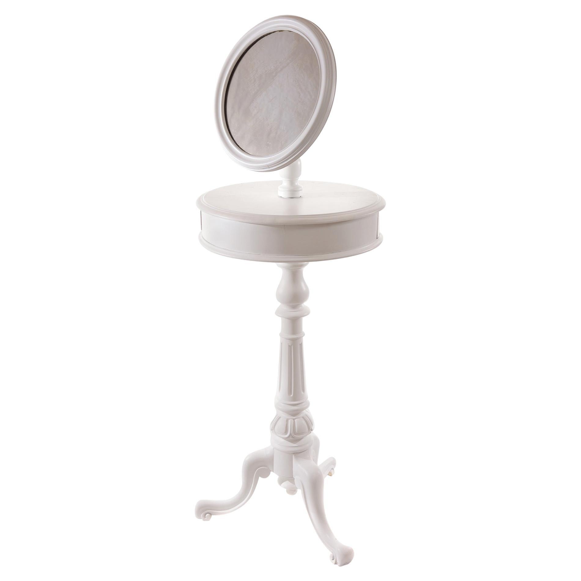 Victorian 19th Century Painted Adjustable Shaving Mirror, circa 1860