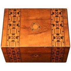 Victorian 19th Century Tunbridge Ware Collectors Box with Original Features