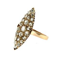 Victorian 2 Carat Diamond Rose Gold Ring
