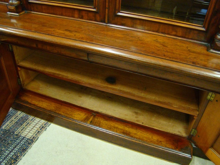 Victorian 2-Door Breakfront Mahogany Bookcase by Fras & Jas Smith, Glasgow For Sale 3
