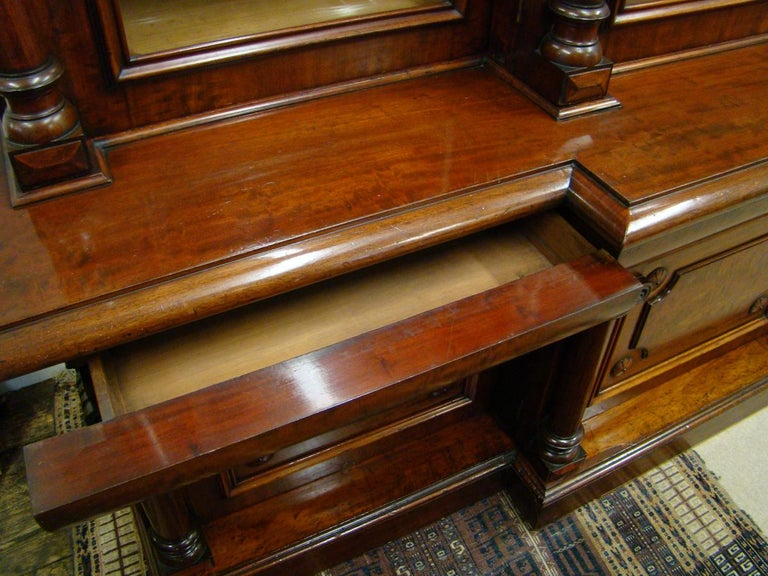 Victorian 2-Door Breakfront Mahogany Bookcase by Fras & Jas Smith, Glasgow For Sale 5