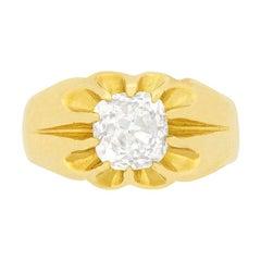 Victorian 2.01 Carat Diamond Gypsy Ring, circa 1900s
