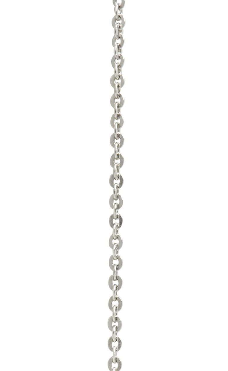 Victorian 2.10 Carat Pave Diamond Silver-Topped Gold Bulldog Pendant Necklace For Sale 1