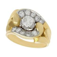 Victorian 2.25 Carat Diamond Yellow Gold Cocktail Ring