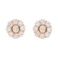 Victorian 2.80 Carat Diamond Earrings, circa 1900s