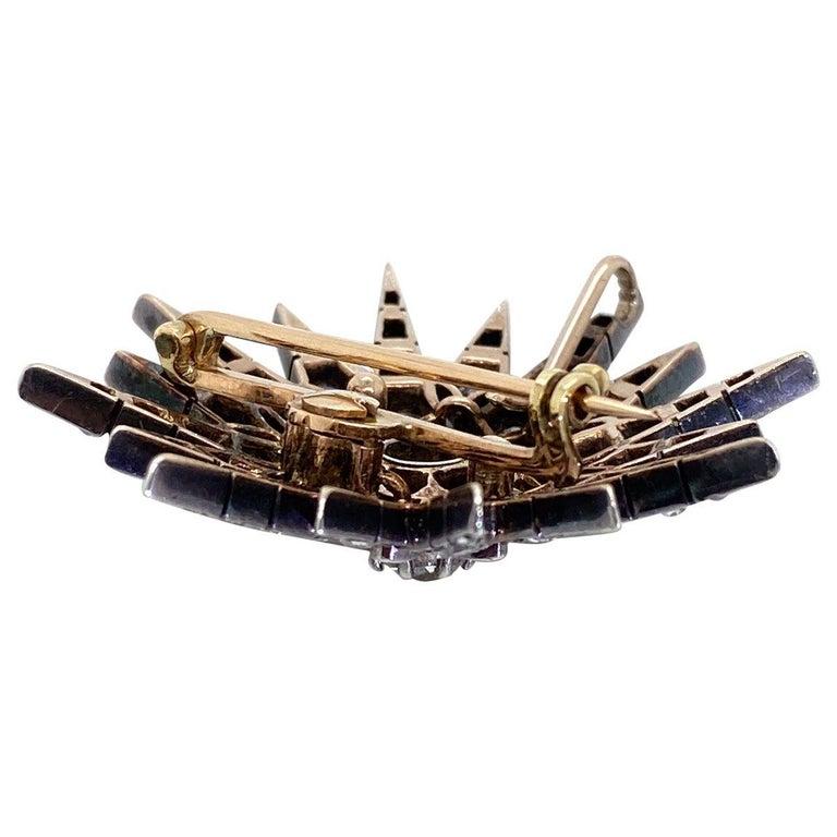 Victorian 2.80 Carat Diamond Eight Point Starburst Pin / Pendant For Sale 6