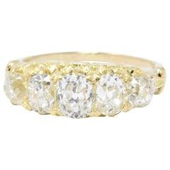 Victorian 3.55 Carat Old Mine Diamond and 14 Karat Gold Alternative Ring