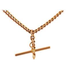 Victorian 9 Carat Gold Albert or Necklace