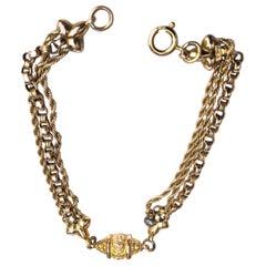 Victorian 9 Carat Gold Albertina Bracelet