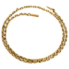 Victorian 9 Carat Gold Belcher Link Chain Necklace
