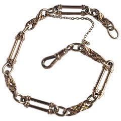 Victorian 9 Carat Gold Fancy Chain Bracelet