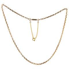 Victorian 9 Carat Gold Link Necklace