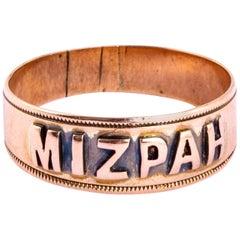 Victorian 9 Carat Gold Mizpah Ring