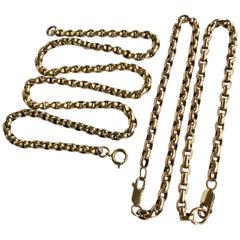 Victorian 9 Carat Gold Necklace and Bracelet Set